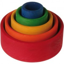 Grimm's Stacking Bowls, Rainbow Red
