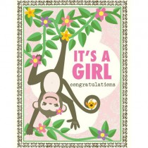 It's a Girl Greeting Card, Monkey