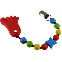 Gumball Footsie Silicone Teether, Red w/ Blue Star (Jamie)