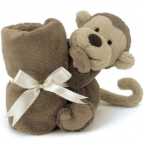 Jellycat Bashful Soother Security Blanket, Monkey