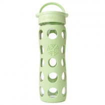 Lifefactory Reusable Glass Bottle Loop Top, 16oz. - Spring Green
