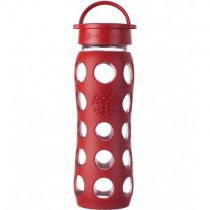 Lifefactory Water Bottle Loop Top, 22oz. - Red