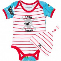 Little Blue House Classic Infant Onesie Set, Treasure Island