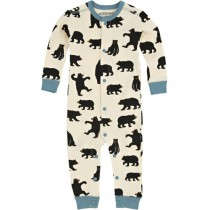 Little Blue House Classic Infant Romper, Bears on Natural