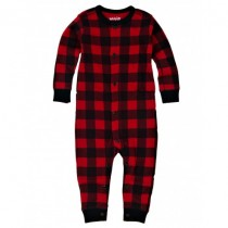 Little Blue House Classic Infant Romper, Buffalo Plaid Red