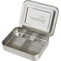 Lunchbots Bento Lunch Box, Large Cinco (Stainless)