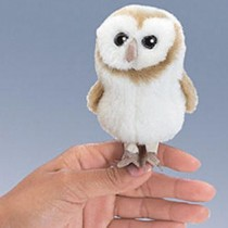 Mini Barn Owl, Finger Puppet