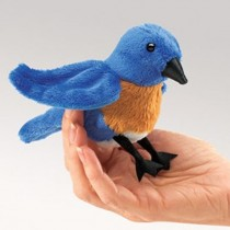 Mini Bluebird, Finger Puppet