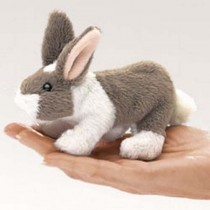 Mini Bunny Rabbit, Finger Puppet