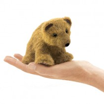 Mini Grizzly Bear, Finger Puppet