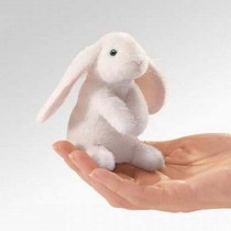 Mini Lop Eared Rabbit, Finger Puppet