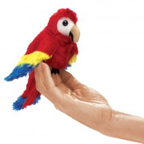 Mini Scarlet Macaw, Finger Puppet