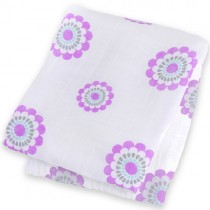 Muslin Swaddle Blanket, Bamboo - Blooms