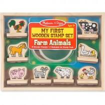 My First Wooden Stamp Set - Farm Animals
