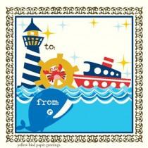 Nautical Whale Enclosure Card