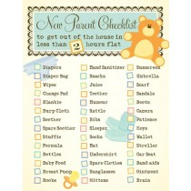 New Parents Checklist Greeting Card