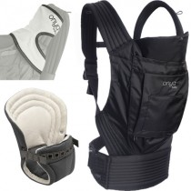 Onya Infant to Toddler Baby Carrier Bundle-Outback - Jet Black