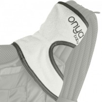 Onya Baby Carrier, Chewie Teething Pads-Slate Grey/Organic Terry