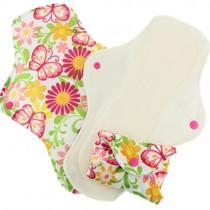 Organic Reusable Menstrual Pads (3pk) - Butterflies