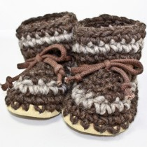 Padraig Wool Slippers, Child - Dark Brown