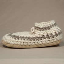 Padraig Wool Slippers, Womens - Cream