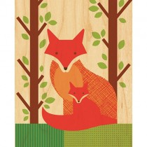 Prints on Wood, Fox & Baby