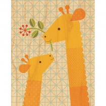 Prints on Wood, Giraffe & Baby