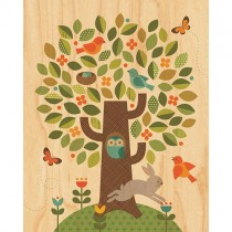Prints on Wood, Woodland Tree