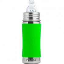 Pura Kiki Stainless Steel Sippy Bottle, 11oz. - Green