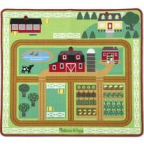 Round the Barnyard Farm Rug