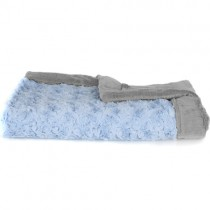 Saranoni Receiving Blanket, Light Blue/Gray