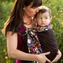 Sewfunky Adjustable Ring Sling - BirdsNorway/Espresso