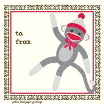 Sock Monkey Enclosure Card