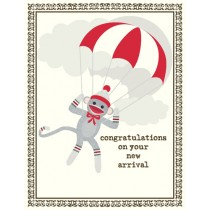 Sock Monkey Baby Greeting Card