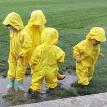 Splashy One-Piece Rain Suit