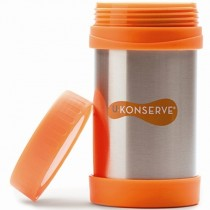 Stainless Steel Hot Meal Container, Orange