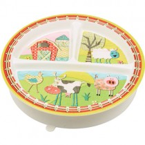 SugarBooger Divided Suction Plate, Farm