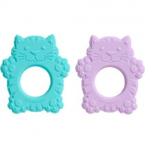 Sugarbooger Silicone Teether, Fluffy the Cat