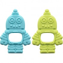 Sugarbooger Silicone Teether, Retro Robot