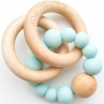 Teething Beads with Wooden Ring