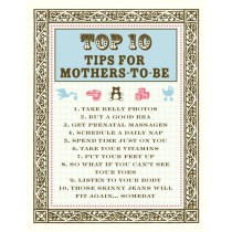 Top 10 Mother-to-Be Tips Greeting Card
