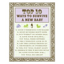 Top 10 Survive Baby Greeting Card by Yellow Bird