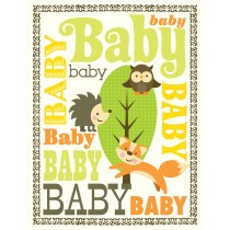 Woodland Baby Greeting Card by Yellow Bird