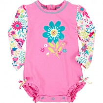 HATLEY Baby Rash Guard, Girls, Wallpaper Flowers