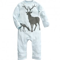 Wee Urban Organic Cotton Romper, Long Sleeved - Mountain Mist Deer