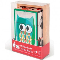 Wooden Block Puzzle, Forest Animals