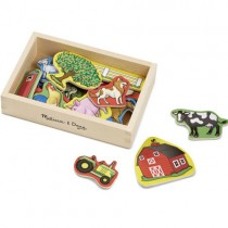 Wooden Farm Magnets