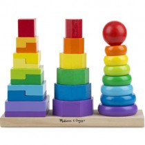 Wooden Geometric Stacking Toy