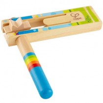 Wooden Happy Noisemaker, Blue