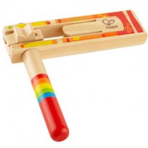Wooden Happy Noisemaker, Red